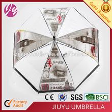 British style transparent umbrella