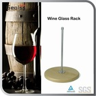 Wine Cup Holder Wine Glass Rack With Wooden Bottom
