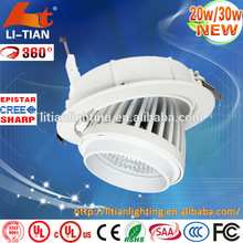 New product downlight led Ra>85 COB Rotatable warm white surface mounted led down light