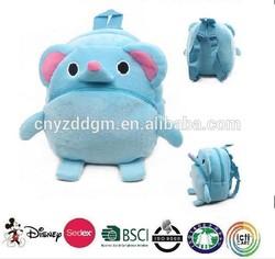 plush animal elephant backpack/plush kids animal backpack/cute and cheap soft elephant bag