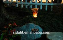 Glass solar tulip flowers lamp STL-002