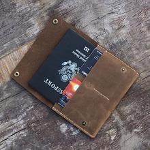 personalized leather passport holder,minimal passport organizer travel wallet,europe crazy horse leather passport case factory