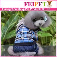 Wholesale fashion tartan design large dog winter jackets and coats