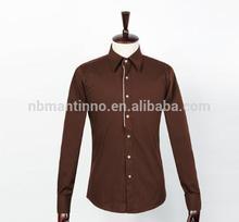 2014 casual slim shirt designs 100% cotton custom shirt men