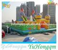 De alta calidad y ciudad inflable gigante, inflables castillos toboggan al aire libre en parques infantiles