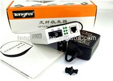 CE RoHS certificated 10/100/1000M single mode dual fiber 20KM ctc optical fiber media converter