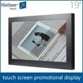 19 pulgadas al por menor tienda e cigarett pantalla táctil de pantalla de publicidad