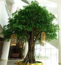 HX-003banyan plastic trees hot sale ficus tree, simulation artificial Banyan tree