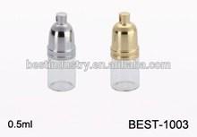 0.5ml glass perfume bottle for sale , tube glass bottle wholesale, small glass bottle for perfume