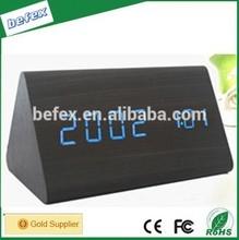Cheap Alarm Clock Decorative Desktop Wooden Digital Alarm Clock with Time and Temperature Display Colors Digital Alarm Clock