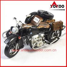 Classic design metal crafts BMW antique motorcycle models (JLM1451-BK)