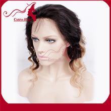 Carina Hair Products Wholesale Price High Quality Grade 7A Brazilian Cheap Dark Roots Human Hair Blonde Wigs