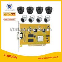H.264 CCTV 8CH Camera And DVR KITS,8 Channel cctv DVR Kit with 24pcs ir led
