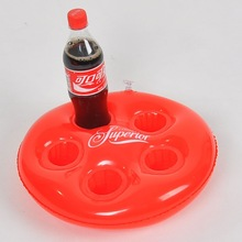 small inflatable floating beer can holder