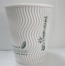 disposable paper cup wrap,single pe print paper cups,unique ripple paper cup