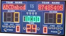 School using ultra bright cheap factory price time display P10 outdoor electronic LED portable basketball scoreboard