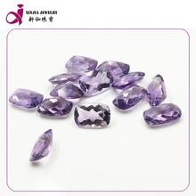 Cushion cut amethyst crystal quartz stone Wholesale