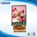 3.0 - pulgadas QVGA TFT LCD con pantalla táctil resolución : 400 x 240 píxeles ( RGB )