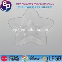 pentagonal shape disposable plastic bowl clear disposable plastic cup cake cases