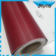 JEYCO VINYL 1.27*30m/ 120um/ Wine Red High quality 3D carbon fiber holographic car vinyl wrap