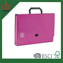 Paper Metallic Style Box File With Handle for sale