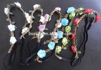 bride floral elastic headband,paper flower beautiful hairbands
