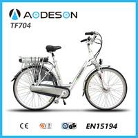 "36v 10ah li ion battery ,250w 8fun brushless geared hub motor 28"" city electric vehicle TF704 for ladies"
