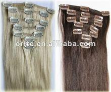 grey color clip in hair extension
