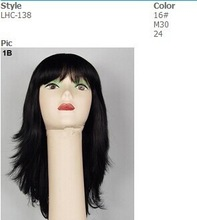 New Fashion Stock Long Wavy Cosplay Party wig with Fringe women party wigs