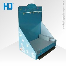 Counter Top Corrugated Paper Display Box , Cardboard Counter Greeting Cards Paper PDQ Display