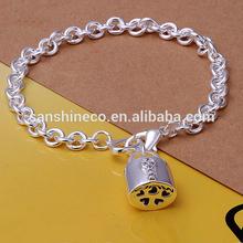 925 Silver Jewelry 925 Sterling Silver Charm Bracelet With Zircon