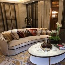 Customized hotel fabric sectional sofa set