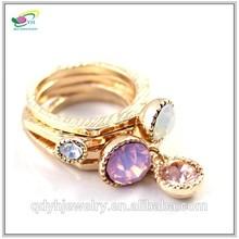 Professional Factory Luxury Fashion Women Moon Stone Ring