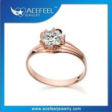 Popular Simple Ring Italina Gold Zircon Ring967040