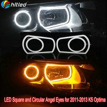 K5 Optima LED angel eyes with turning light function / white +yellow color emitting led angel eyes for K5