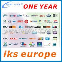 IKS server Cccam account 1 year Europe iks open europe tv channels