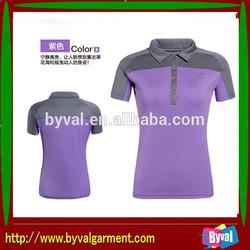 Promotion badminton sport t-shirt 100% polyester quick dry polo shirt sportwear