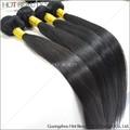 Negro largo recto sedoso cabello humano tejer 6a 100% brasileño virgen del pelo recto