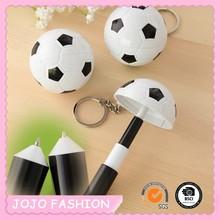 Cheap football shape keyring style plastic promotional plastic pen
