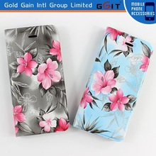 Floral Flowers Printed Flip PU Leather Wallet Stand Cover Case For iPhone 6 Plus