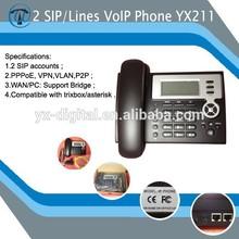 2 SIP Accounts WIFI VoIP Phone,sip wifi telephone,IP Phone YX211
