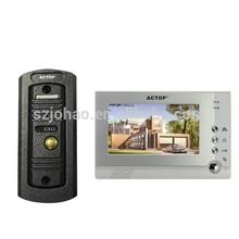 Video Door Phone, Video Door Entry System, 7 inch, 16pcs doorbell music for villa