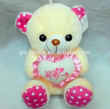Lovely plush bear Toys soft toy /Factory Top Quality Custom Teddy Bear With Heart