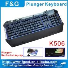 Plunger LED gaming keyboard Mechanical