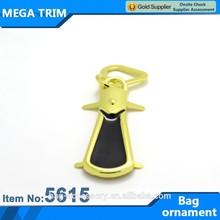 Custom light gold long shaped ornament of bag