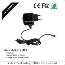 Wholesale EU plug universal 1a&2a usb phone charger