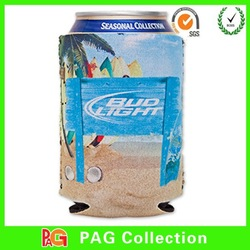 Neoprene unsewn cooler blank foldable white can cooler for sublimation