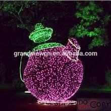 2014 NEW led christmas decoration light 3D teapot for park of alice in wonderland