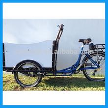 loading electric cargo bike
