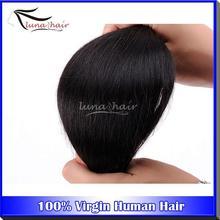 Supply salon virgin hair 6A grade natural color Indian Wavy